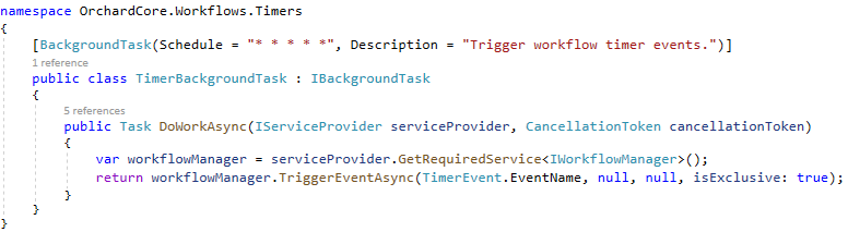 TimerBackgroundTask using the isExclusive parameter