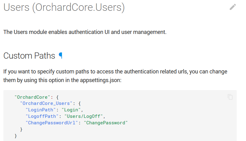 Custom path for user endpoints