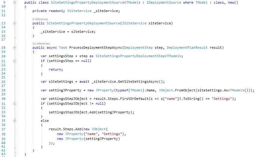 The SiteSettingsPropertyDeploymentSource class