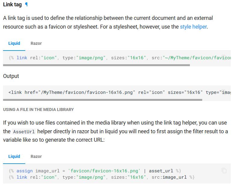 Link helper documentation