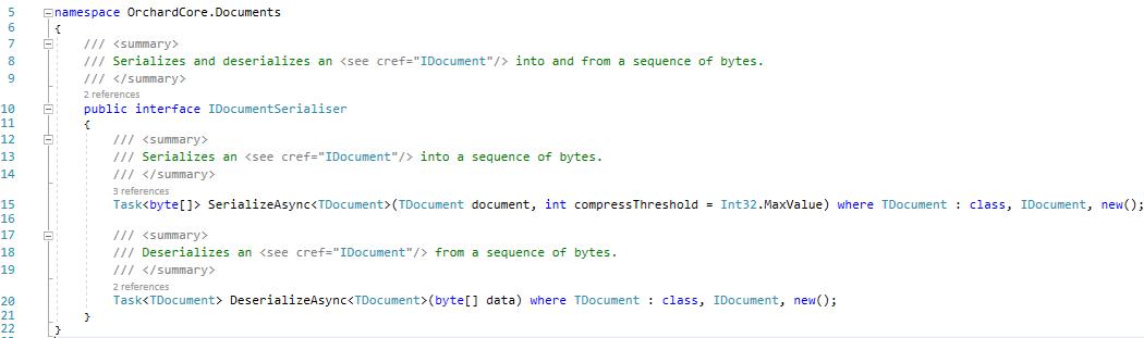 The IDocumentSerialiser interface