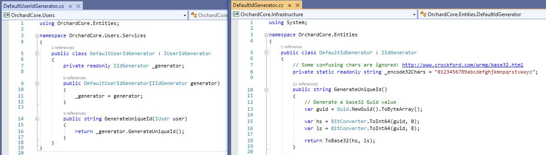 The default user ID generator