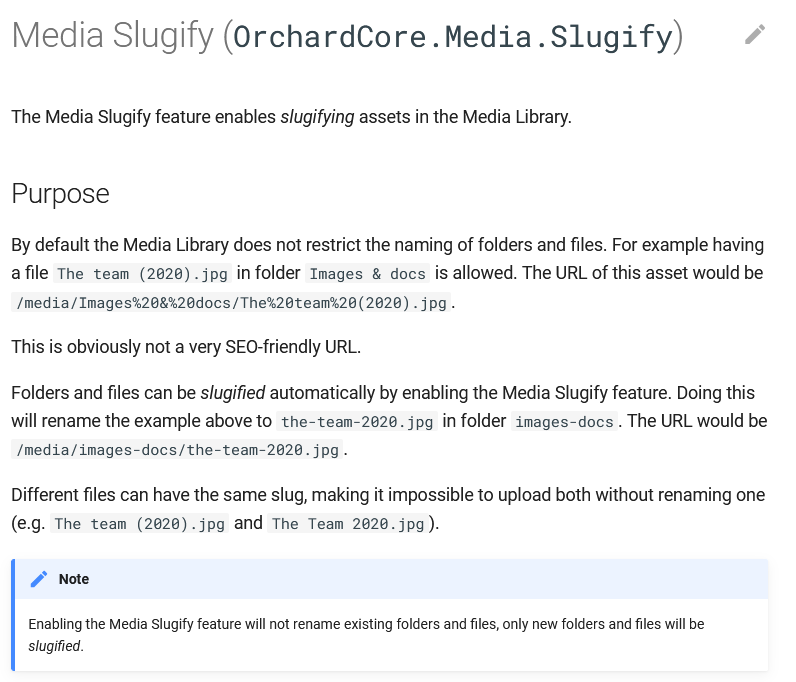 Media Slugify documentation