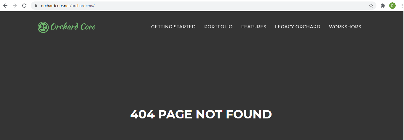 404 page with a trailing slash