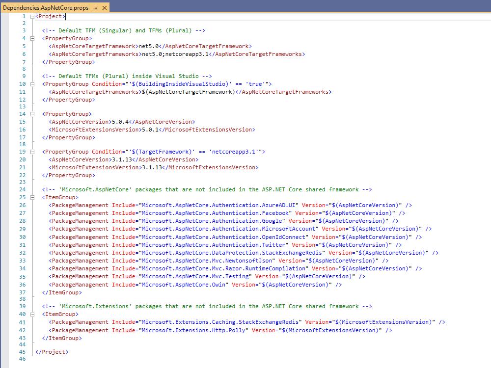 net5.0 and netcoreapp3.1 target framework multi-targetting
