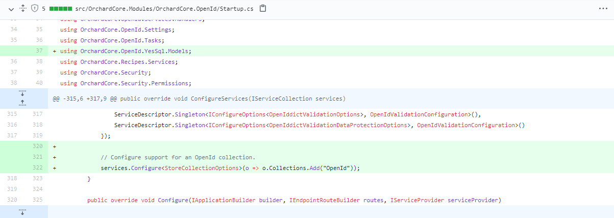 OpenID support collections
