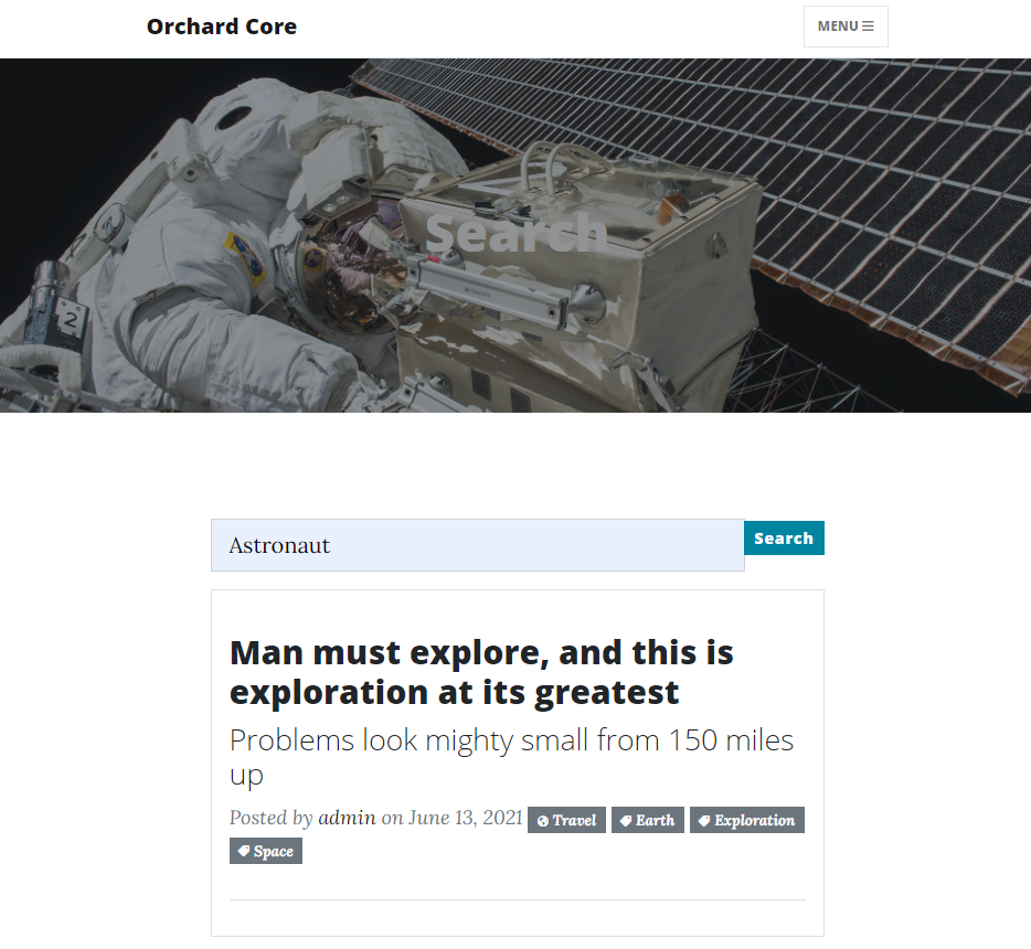 The blog post where the media text of the attached media field contains the Astronaut word