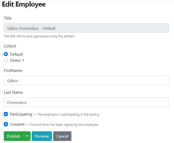 Adding a new employee