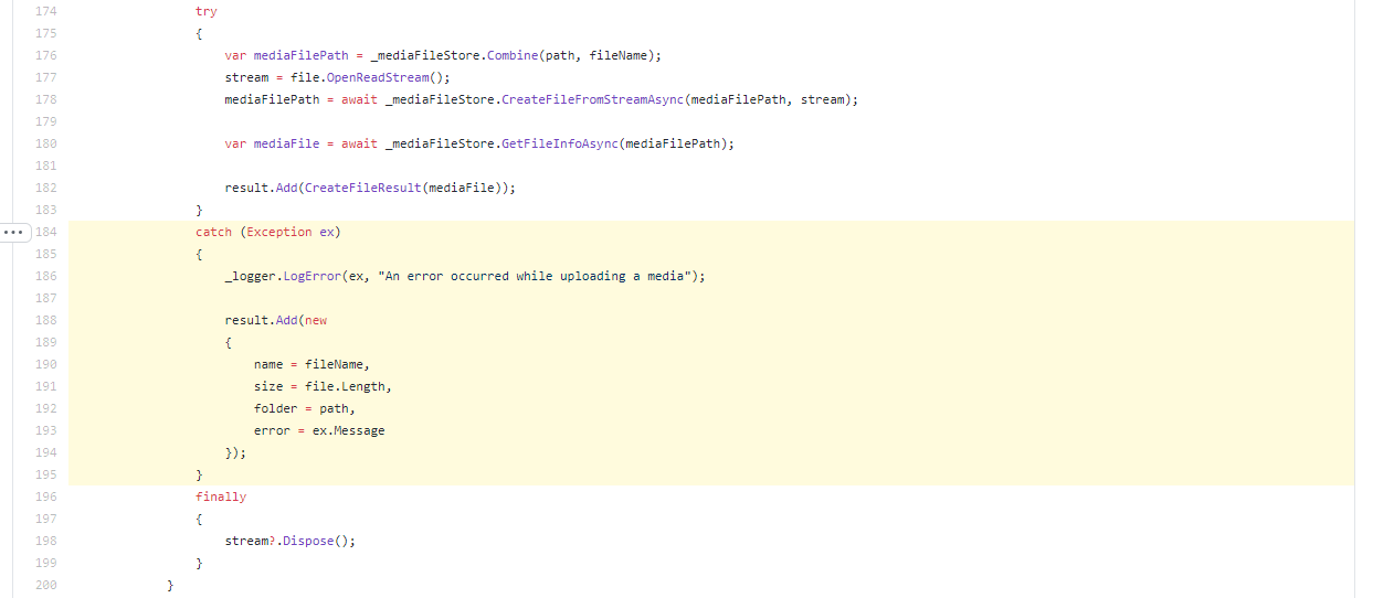 The code that returned the file path