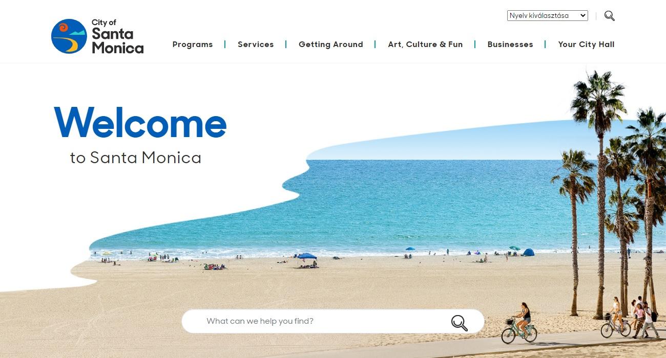 The website of the City of Santa Monica