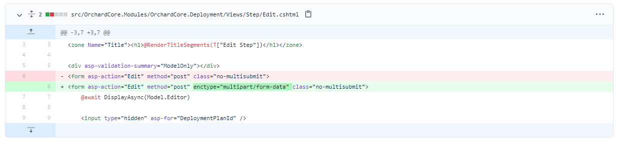 Allow file attachments for deployment steps