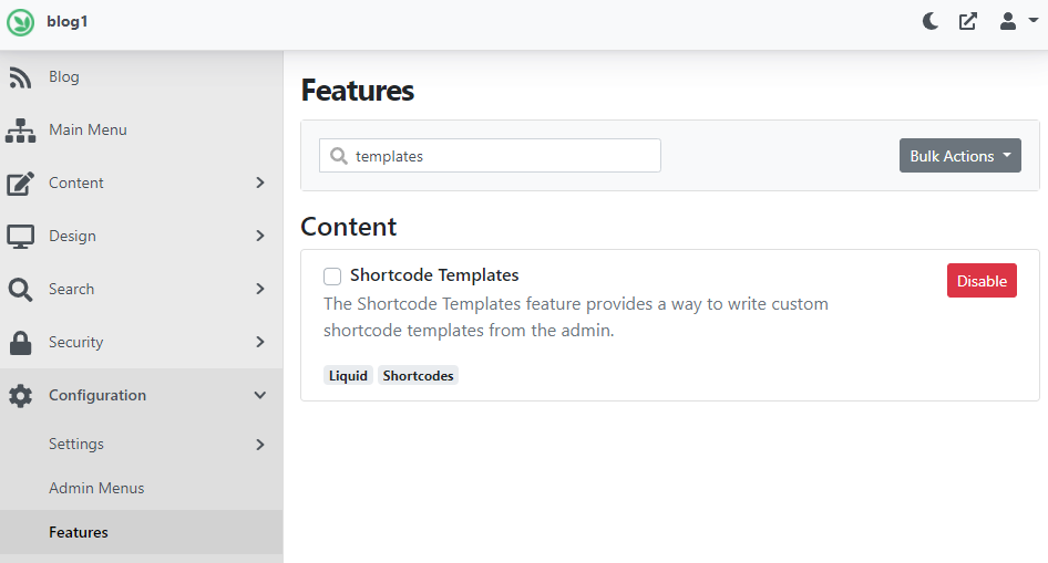 Excluded Templates feature