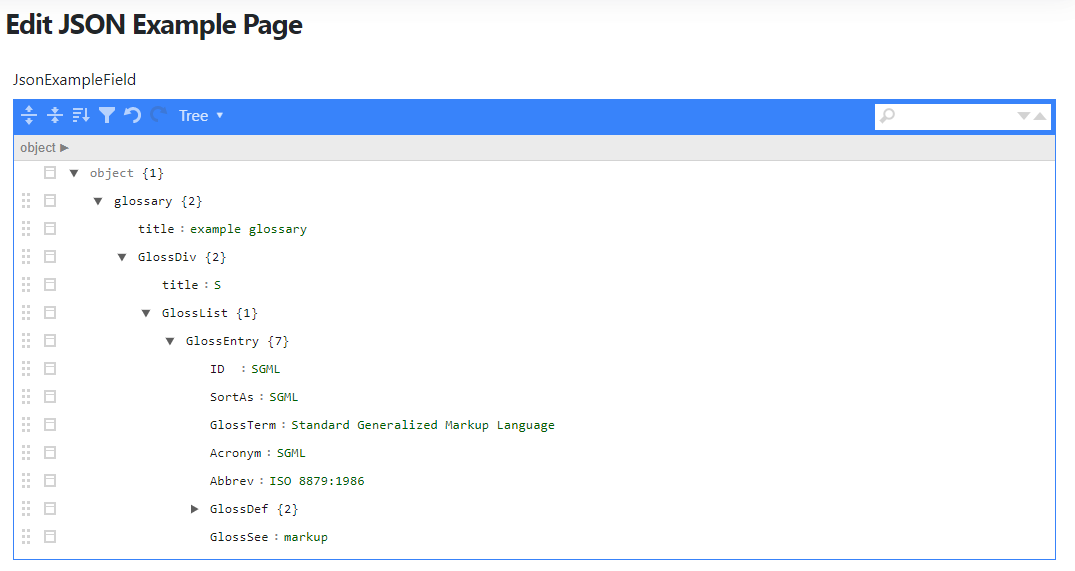 The JSON Example Page