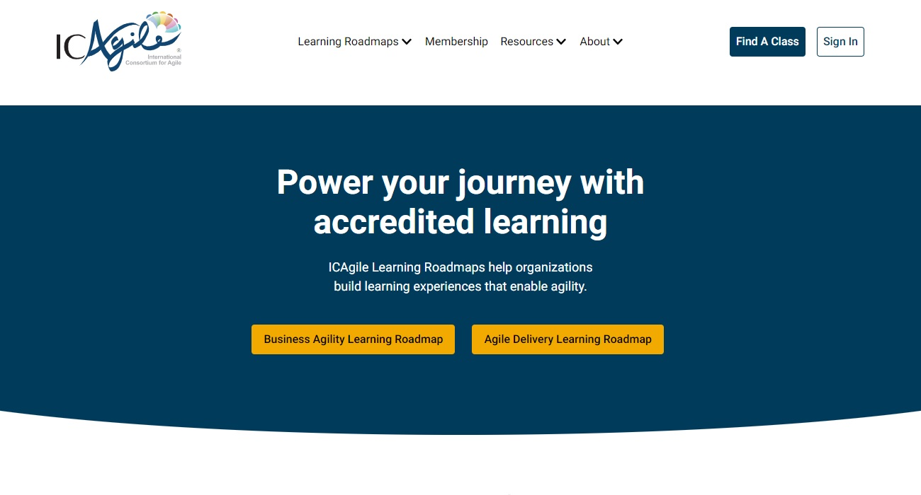 New Orchard Core website: ICAgile