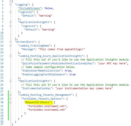 Configure forbidden host names
