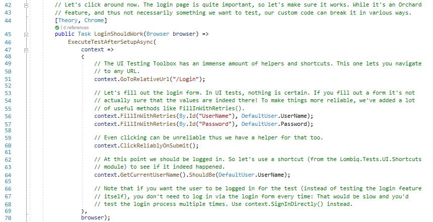 The LoginShouldWork UI test